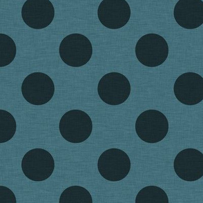 Prim Dark Blue Polka Dots