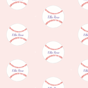 Baseball - strawberry milkshake-personalized