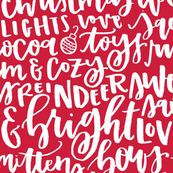 Holiday Favorite Things - White on Red