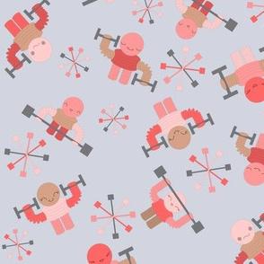 Robots pumping iron