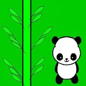 Pandas in a Bamboo Forest