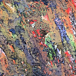 Abstract Painting Fall Colors