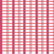 2016 Spring Fabric Pink and Blood Orange Plaid Large Print