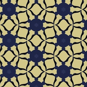 Unusual Blue and Tan Abstraction