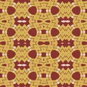 Modern Tribal in Mustard and Crimson