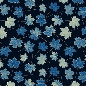moonlit maple leaves, small