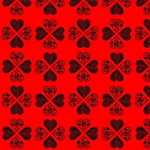 celtic hearts 1 red & blk