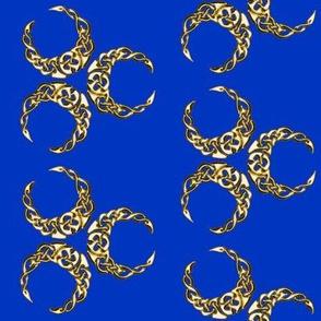 triple celtic crescent blue