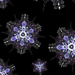 filigree snowflake scatter in purple