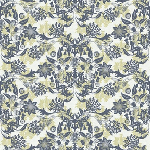 Hummingbird Damask #2