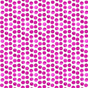 Deep Magenta Watercolor Dots
