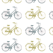 Antique Bikes - Olive and Blue/Grey
