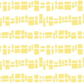 Graphic Shapes in a Line - Yellow Squares