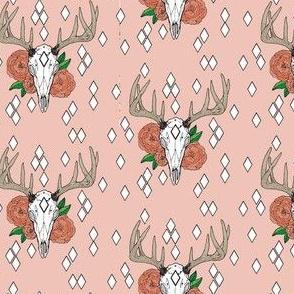 Whitetail Deer & Peony with Geometrics