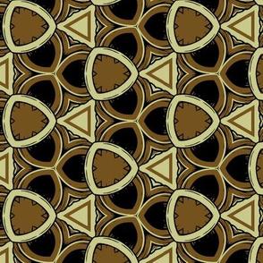 Triangular Geometric in Greens and Black