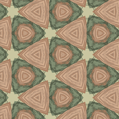 Triangle Geometric in Green and Tan