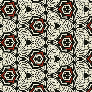 Black and Red Geometric