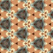 Blue and Tan Triangular Geometric