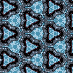 Masculine Geometric in Blue and Gray