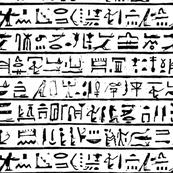 Egyptian Heiroglyph - Black on White