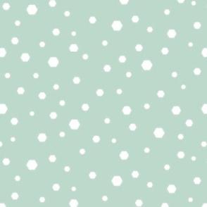 Hexagon snow_light green