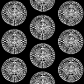 "Mayan Calendar on Black - Small (2.5"")"