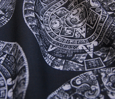 Mayan Calendar- White on Black