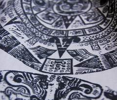 Mayan Calendar - Black on White