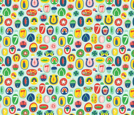 Lucky charms fabric nadiahassan spoonflower - Lucky charm wallpaper ...