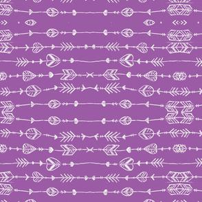 purple arrow doodle