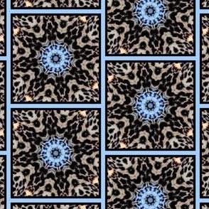 blue leopard tiles