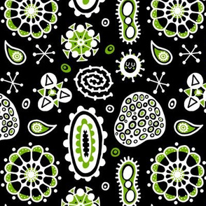 Psychedelic green cells