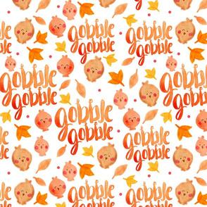Watercolor Gobble Gobble Turkey