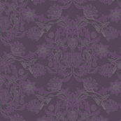 Hummingbird Damask #6