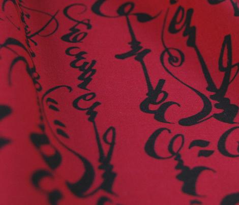 Mongolian Calligraphy - Red & Black