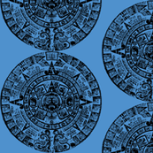 Mayan Calendar - Black & Blue