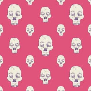 Lovely Pink Skull Fill