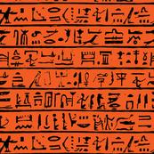Egyptian Heiroglyphics - Black & Orange