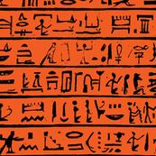 Egyptian Heiroglyphics on Orange - Small
