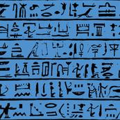 Egyptian Heiroglyphics - Black & Orange-ch