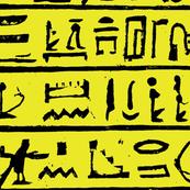 Egyptian Heiroglyphics - Black & Yellow