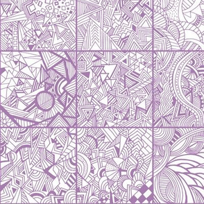 Zentangle Squares Lilac