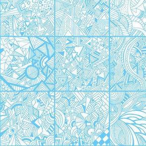 Zentangle Squares Blue