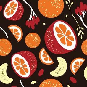 Oranges black