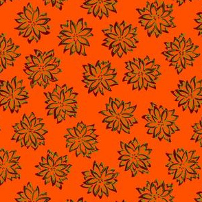 Mod Squiggly Poinsettias (seamless repeat)