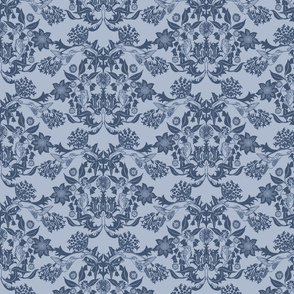 Hummingbird Damask #4