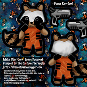 Space Raccoon Plushie