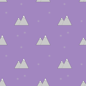 Mountain and snowflake lavender