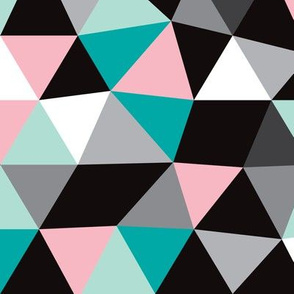 Pastel modern geometric triangle pattern EXTRA LARGE