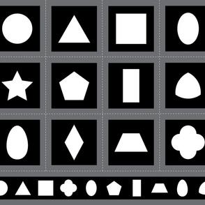 Montessori Black & White Shapes